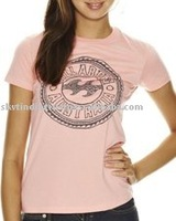 LADIES T-SHIRT WITH SILK SCREEN PRINT IN PLASTISOL INK