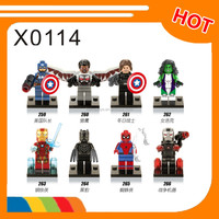 X0114 Marvel Avenger Spiderman Batman super hero boys building block action figure toys
