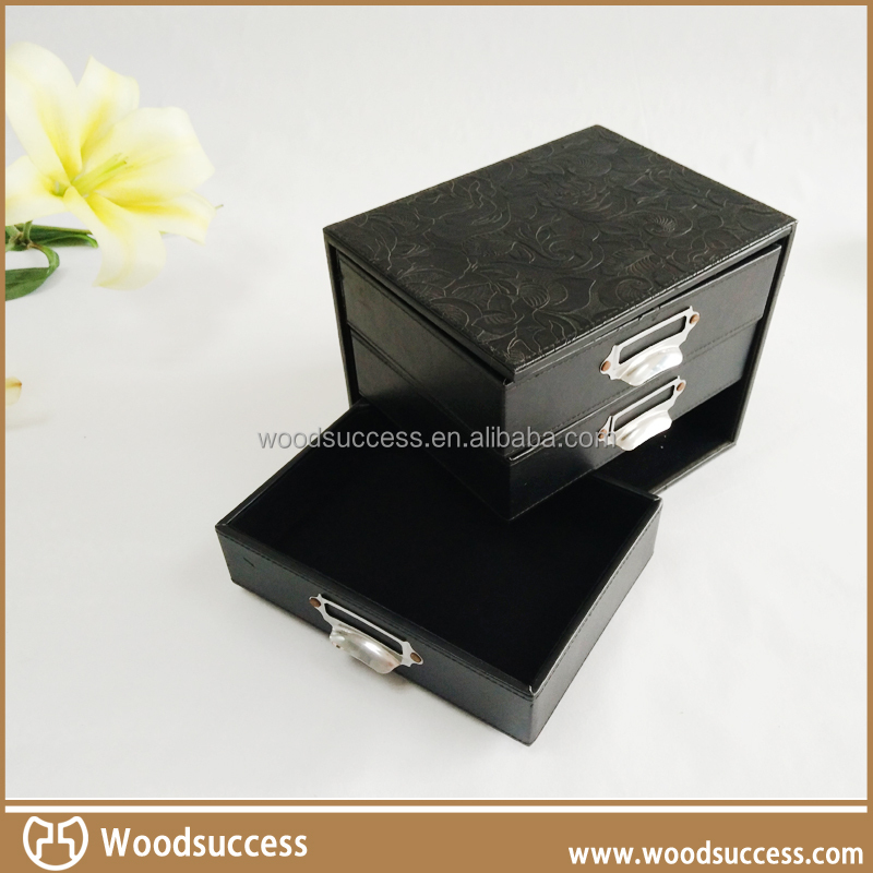 Pringted logo custom wooden jewelry box stand up