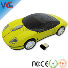 2.4G RF 3d Wireless Black Optical USB Car Mouse with mini receiver