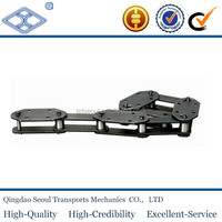 NSE400 heavy strength long pitch 125 industrial high speed large heavy duty lifting chain for bucket elevator