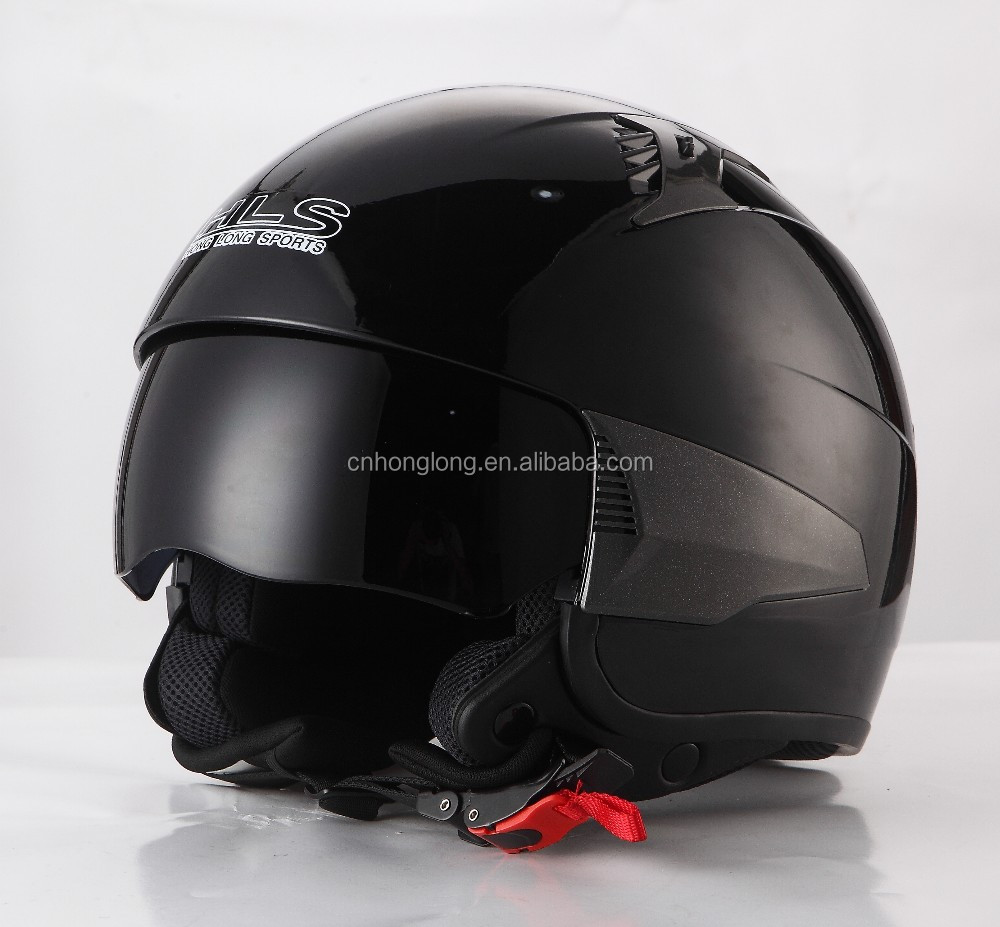 modern design open face motorbike helmet with inner visor