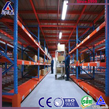 light duty gravity flow roller rack, roller racking system, gravity flow roller rack