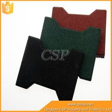 Anti-slip Dog-bone shape rubber paver, Interlocking rubber floor