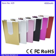 Shenzhen Factory Wholesale 4000mAh Easy Carry Power Bank with Clip