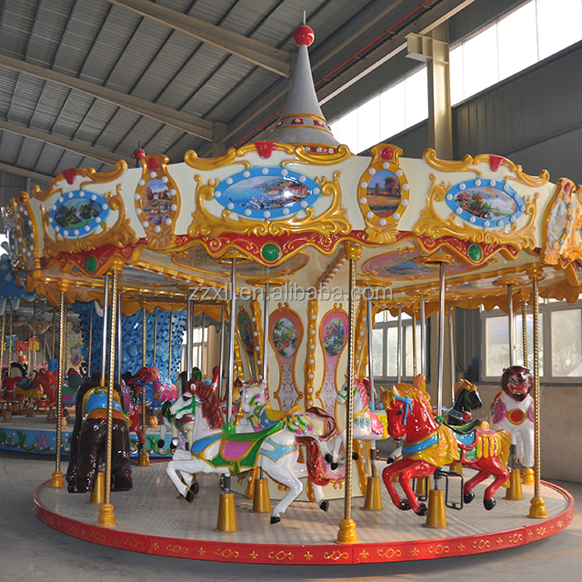 direct manufacturer amusement park rides carousel ride, merry go round for sale