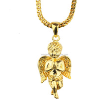 Men Iced Out Brass Angel <strong>Charms</strong> for Jewelry Making