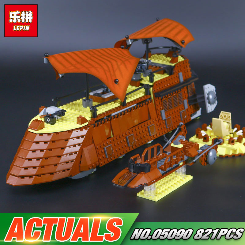 Lepin 05090 Star Series War 821Pcs Genuine The Ja`s Sail Barge Set Children Educational Building Blocks Bricks Toy Model 6210