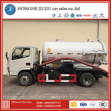dongfeng 95hp 3 cubic meter mini vacuum sewage suction truck