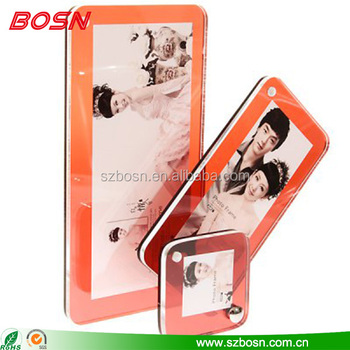 Custom size set of acrylic photo frame Perspex 3 group picture stand holder