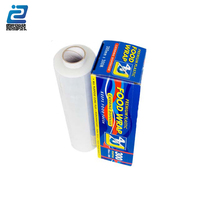 Clear hand use plastic stretch cling wrap packing roll film