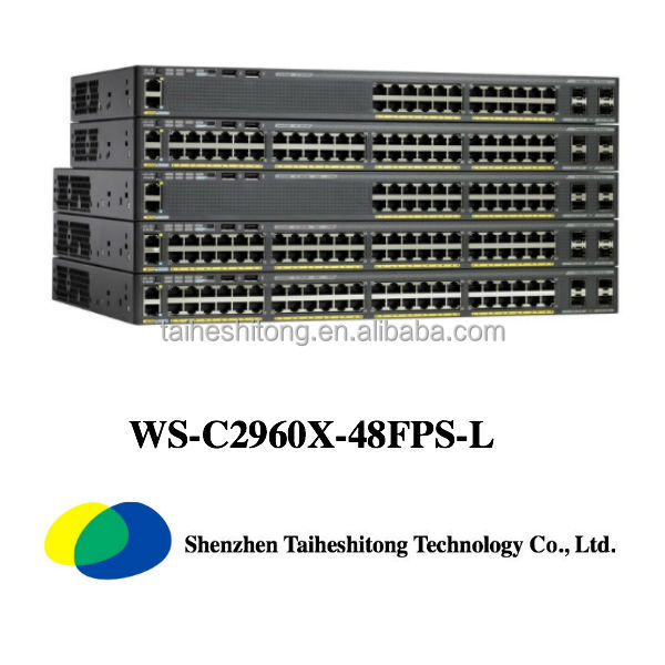 Hot Sale Cisco Catalyst 2960X Switchs WS-C2960X-48FPS-L and Cisco 10/100/1000Mbps ethernet Switch
