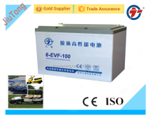 12V100AH gel deep cycle battery for Electric vehicle/EVF battery for golf car