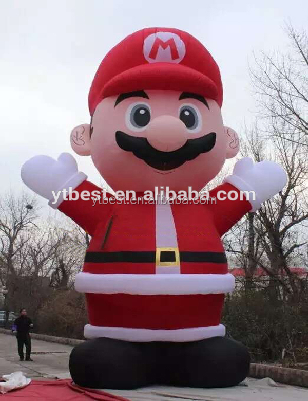 inflatable super mario cartoon for Christmas decoration