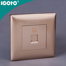 T128 European standard 1 gang data socket(CAT6) Hot Sale Voice Control Wall Switch Voice Activated Light Switches