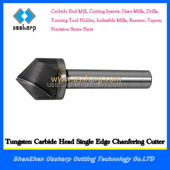Wholesale welded solid cabide head end mill countersink 90 degree chamfer endmills