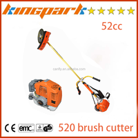 Professional kingpark garden tools metal blade cutting type gas power brush cutter,bc520 52cc gasoline brush cutter