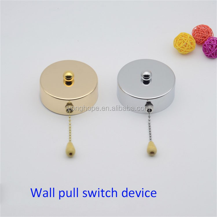 D80mm Chrome Gold Wall Chain Pull Switch For DIY Pendant Light Wall Sconce Chandelier Ceiling Lamp Base Lighting Accessories