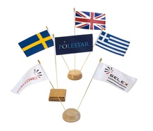 Custom small mini desk country flag with office flagpoles