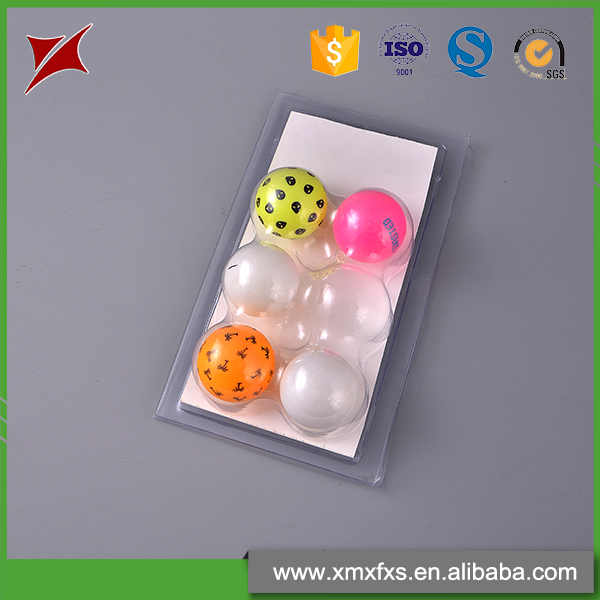 6 Ping Pang balls transparent disposable blister plastic box packing