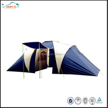 Double Layers with 2 sleeping rooms tunnel tent on opposite sides tent