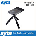 SYTA C2 Mini Projector DLP 1G/8G Android 4.4 RK3128 5G Wifi 30-120 inch 5000mAh Battery Portable Home Theater Projector