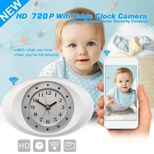 Hot selling Digital Alarm Clock Camera HD Spy Clock WIFI 720P P2P Network Mini IP Camera Wifi Clock Camera
