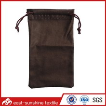 OEM Pure Color Drawstring Microfibre Pouch; Microfibre Pouch for Eyewear