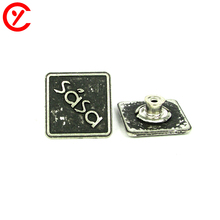 OEM Custom Nickel Free Eco Friendly Dry Cleaning Feature black metal tack button for jeans