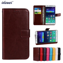 Luxury Flip PU Leather Wallet Mobile phone Cover Case For Lenovo A7600 with Card Holder