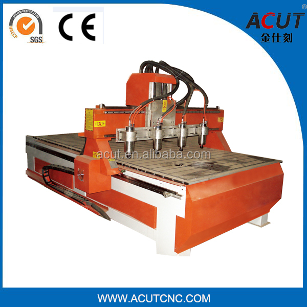ACUT-1825-4 Multi Spindle CNC Router Wood Engraving Machine/Wood Cutting Machinary