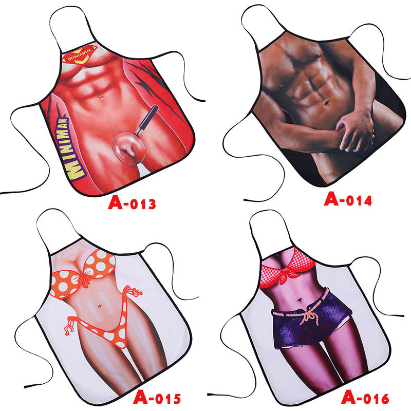 China Sexy Naked Apron Custom Comic Pattern for Party Gift