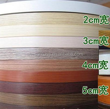 pvc bicolor edge banding high gloss tape with primer