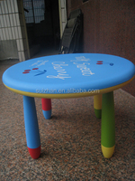 Factory supply low price round kids study children plastic table