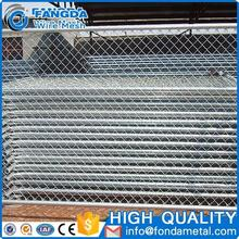 Anping Factory Directly selling Electro galvanized temporary safty chain link fence for Protecting