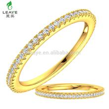 Wholesale Fashion 925 Silver Jewellery Pure Plain Silver CZ Gold Wedding Ring