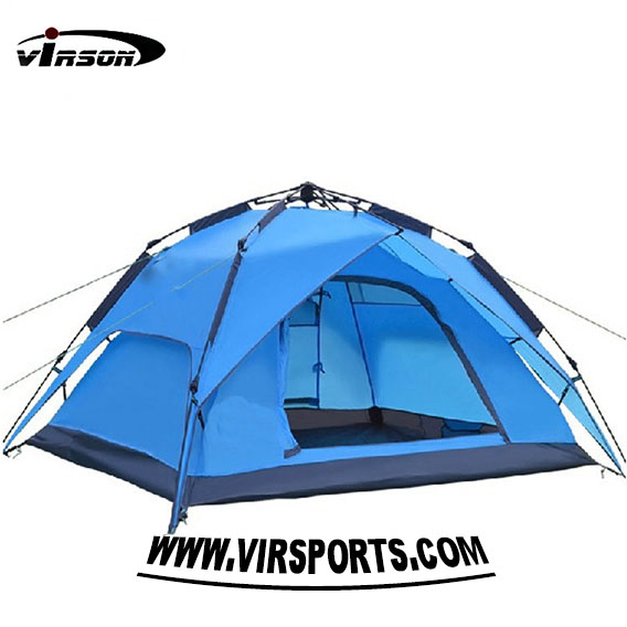 ployester cheap double layer 2 3 people steel pipe outdoor camping tent for trekking
