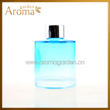 Fashion Gradient color round 150ml reed diffuser glass bottle