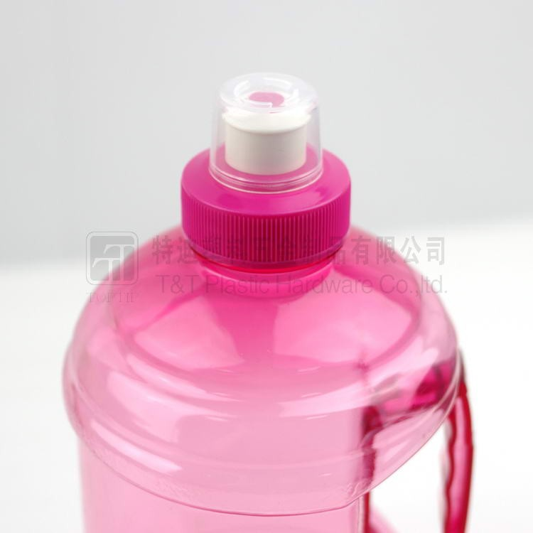1000ml & 2000ml bpa Free pctg Plastic Pink Plastic Water Bottle