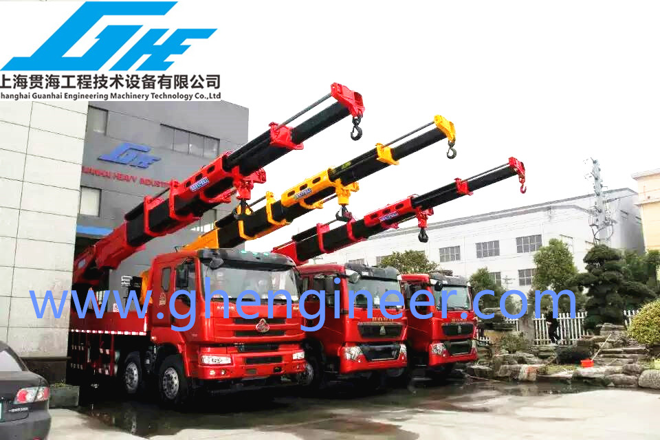 Telescopic Knuckle Boom Truck Mounted Crane 3600