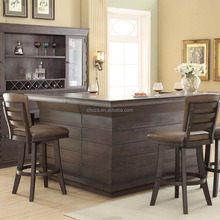 F40478A-1 Nice looking solid wood commerical bar counters design for sale