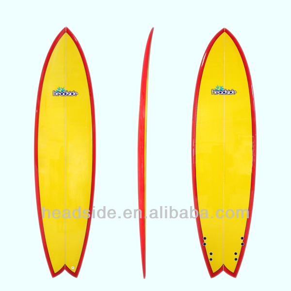 Wholesale customized PU core fish surfboard/kitesurf board