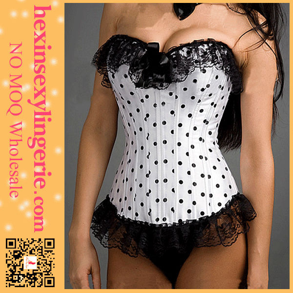 Hot sales xxl body shaper cheap dress hot women sex black and white corset