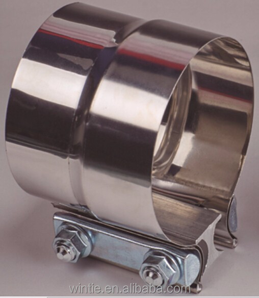 STAINLESS STEEL BUTT/LAP JOINT PIPE BAND CLAMP
