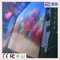 Hanging flexible led video curtain screen display 2013 led xxxx video xxx wall