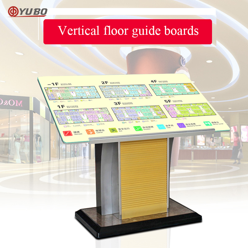Floor standing Stainless steel advertising display stand