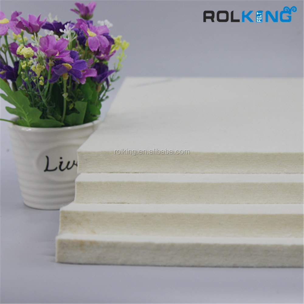 white industrial wool felt