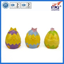 Customized easter gift ceramic day old chick shaped coin bank,ceramic cute money saving box with chick design,multicolor