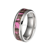 Womens tungsten ring new arrivals pink camo inlay tungsten wedding ring in width 6mm