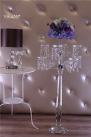 hot selling candelabra with flower bowl crystal for tables